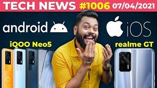 realme GT India 출시 확인, iQOO Neo5 출시, Android vs iOS, OPPO / vivo 접이식 전화-# TTN1006