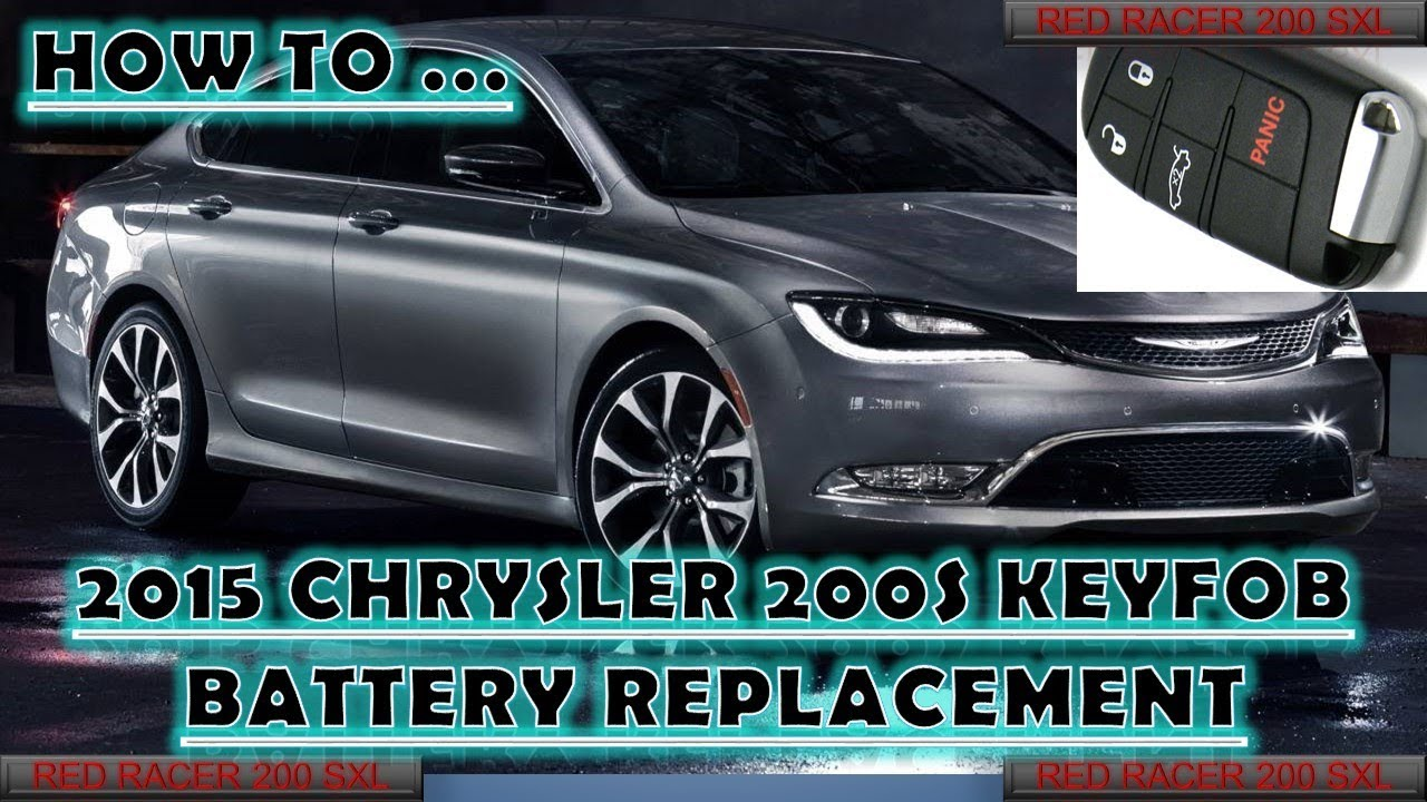 2015 Chrysler 200 Key fob Battery Replacement Tutorial