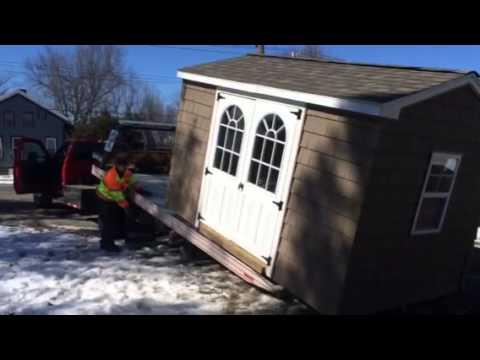 Garden Sheds Buffalo Ny shed moving buffalo - race storage sheds - youtube
