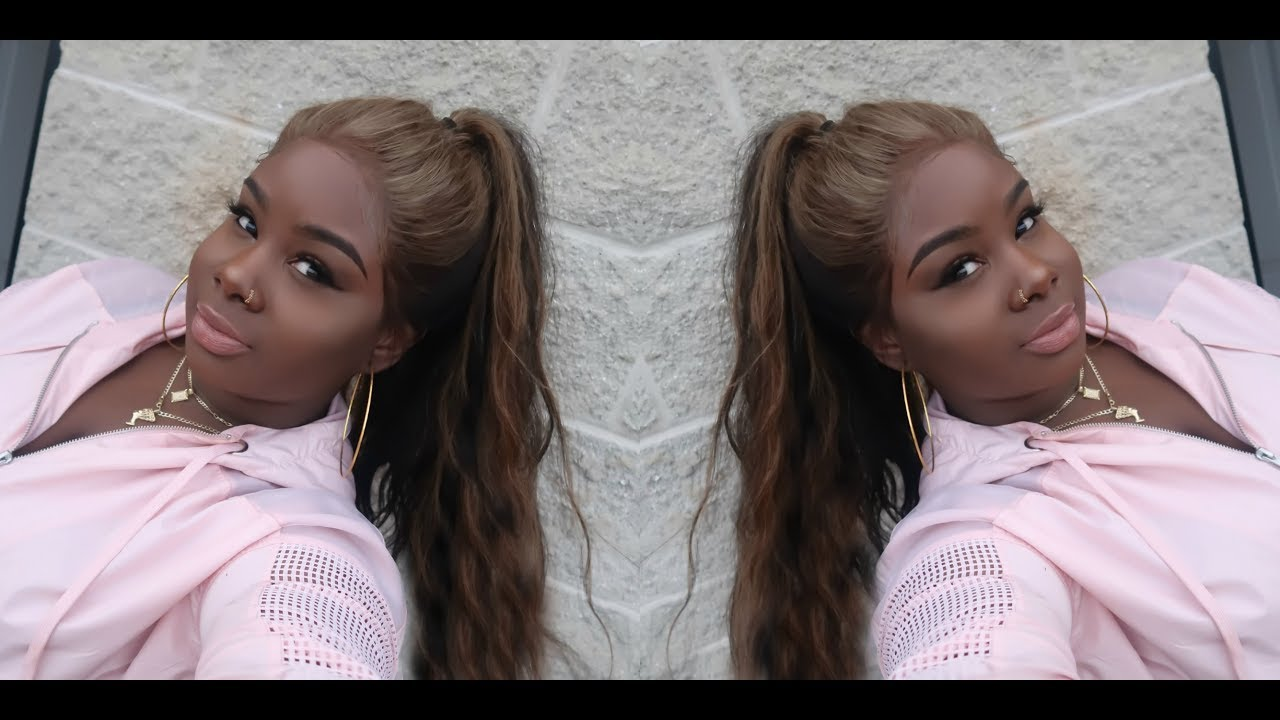 Full Lace High Ponytail Ash Blonde Color Diy Ft Yolissa Hair