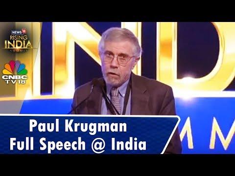 What Sets India Apart? | Paul Krugman LIVE Full Speech from #News18RisingIndia Summit | CNBC TV18