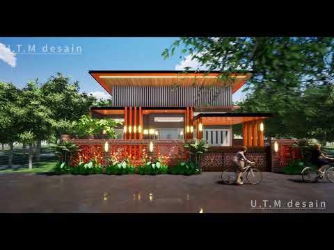desain rumah minimalis modern tropis industrial 1 lantai