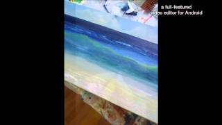 # how to paint waves.  Hightide (2015) painting a seascape in acrylics by