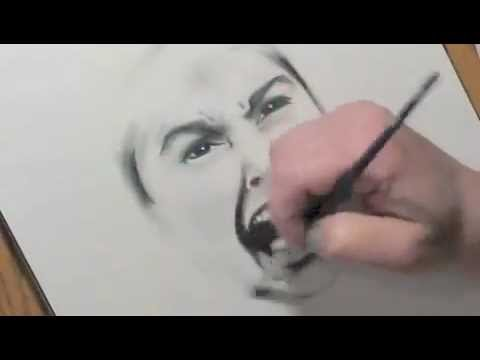 Speed Drawing of Janet Leigh from Psycho