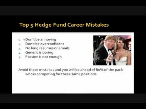 Top 5 Hedge Fund Career Mistakes   Hedge Fund Group Webinar