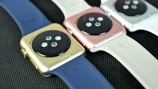 Apple Watch Sport Rose Gold & Gold Colors - Unboxing & Comparison