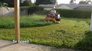 Mowing tall thick grass