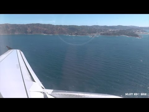 Air New Zealand A320-232 AKL-WLG with Turbulent Landing, Gate to Gate
