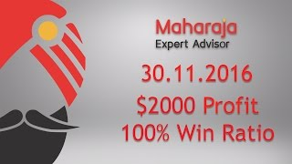 Forex. Profit $ 2000 at 2016.11.30 in 8 hours. 100% Win Ratio! Binary Options