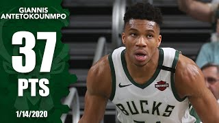Giannis Antetokounmpo goes on a tear, scores 37 points in 21 minutes | 2019-20 NBA Highlights