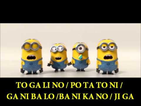 BANANA SONG w/ Lyrics by Minion