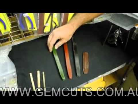 Introduction to dopping stones for lapidary.