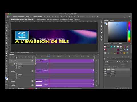 Comment Réaliser Et Enregistrer Une Animation En Gif Sur Photoshop Cc