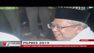 Cawapres Ma'ruf Amin Mengunjungi Rumah Istri Abdul Rahman Wahid