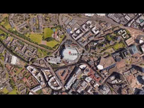 GOOGLE MAP  BARCLAYCARD ARENA, HAMBURG GERMANY