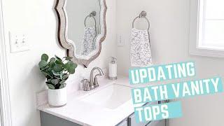 Updating Our Bathroom Vanity Tops