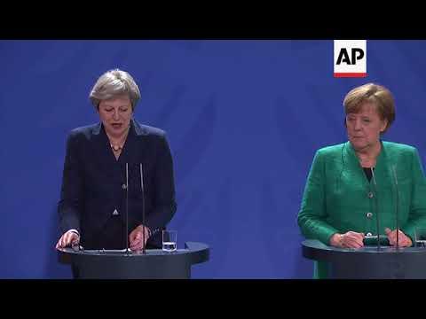 UK PM May meets German Chancellor Merkel in Berlin