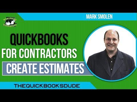 QuickBooks For Contractors - Create Estimates