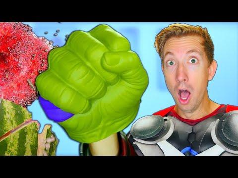10 Thor Ragnarok Gadgets Tested in Real Life  Marvel Avengers vs Fruit Ninja