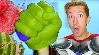 10 Thor Ragnarok Gadgets Tested in Real Life 🗡 Marvel Avengers vs Fruit Ninja