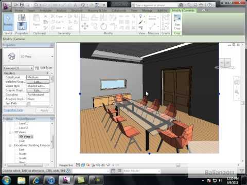 Revit Boardroom Drop Ceiling and Lighting Design