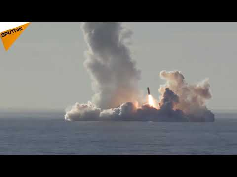 Russia  Borey Class Submarine Fire a Missile Salvo From Sea Depths For the First Time