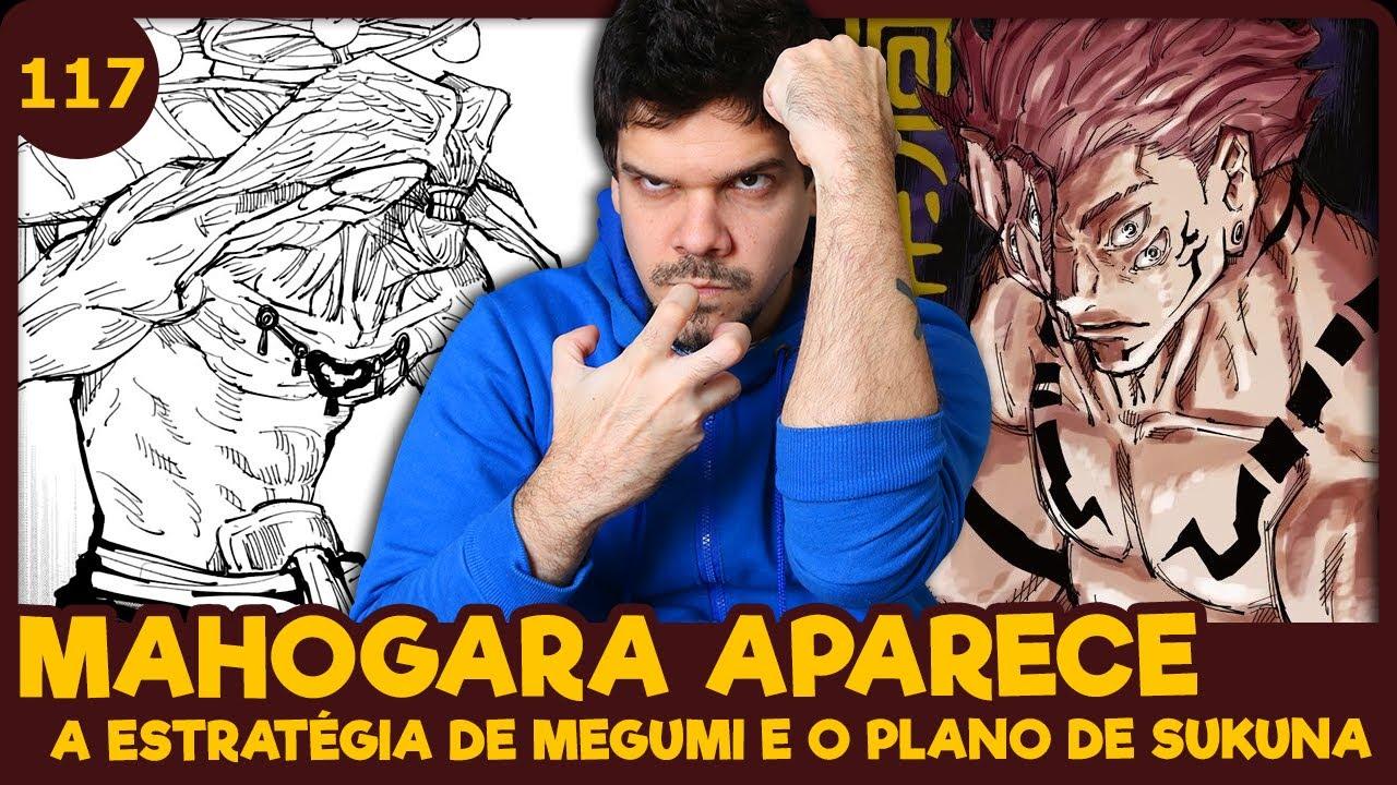 MEGUMI E A INVOCAÇÃO DE MAHOGARA (Jujutsu Kaisen 117 | Mangá React)