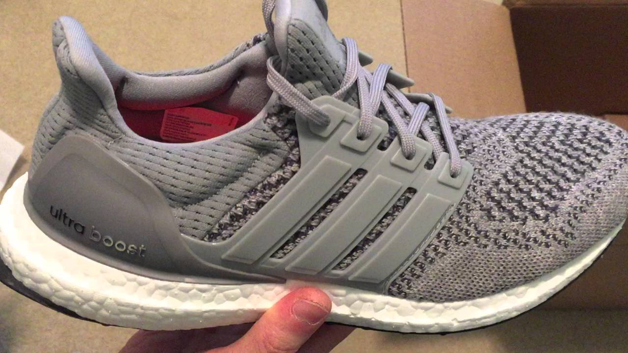eda8efe5e17 Adidas Ultra Boost Grey Wool Sneaker Unboxing - YouTube
