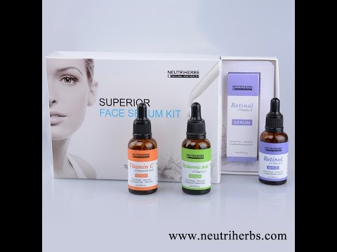Deep Hydrating Superior Face Serum Kit For Skin Care