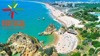Três Irmãos - Alvor - Prainha - João de Arens Beach aerial view - Algarve - 4K Ultra HD