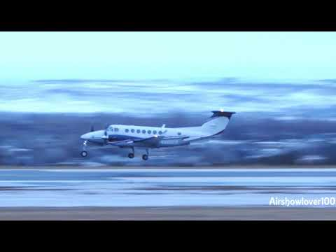Beechcraft King Air 350 Landing Billings