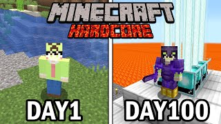 I Survived 100 Days in Minecraft, In a magma rises one block a day World.. Here's What Happened..