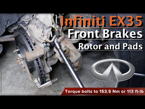 How to replace front brake pads and rotors on Infiniti EX35 : DIY