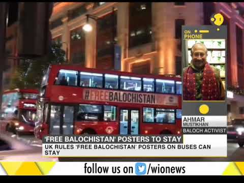 ''Free Balochistan' posters to stay: UK advertising authority