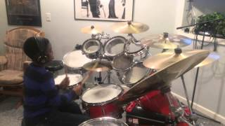 """When the Praises Go Up His Glory Comes Down""-Nii Addo With Drums Cover by 10 yr Old Junior 1080p"