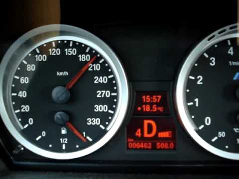 Bmw M3 E92 Speedo 0 210 Km H Youtube