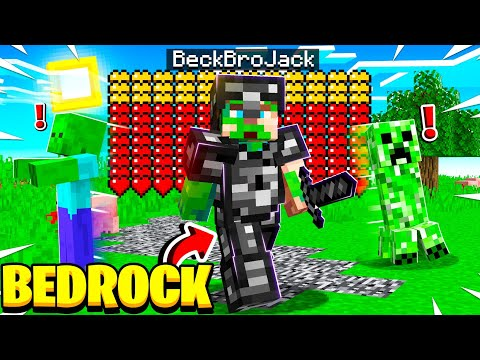 Playing MINECRAFT With BEDROCK ARMOR! (insane)