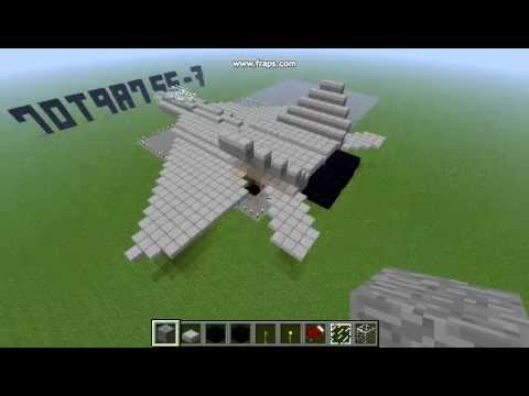Minecraft F 22 Raptor Fighter Jet Youtube