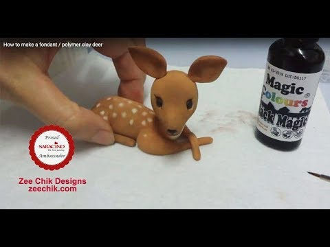 How To Make A Deer Fondant Polymer Clay Youtube
