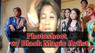 Photoshoot behind the scene kulitan with Black Magic Artist