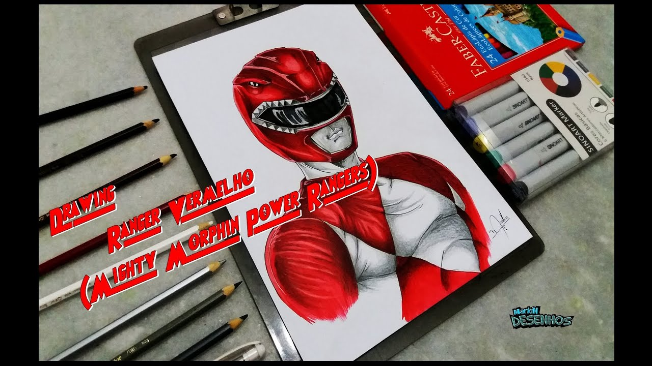 Speed Drawing Ranger Vermelho (Mighty Morphin Power