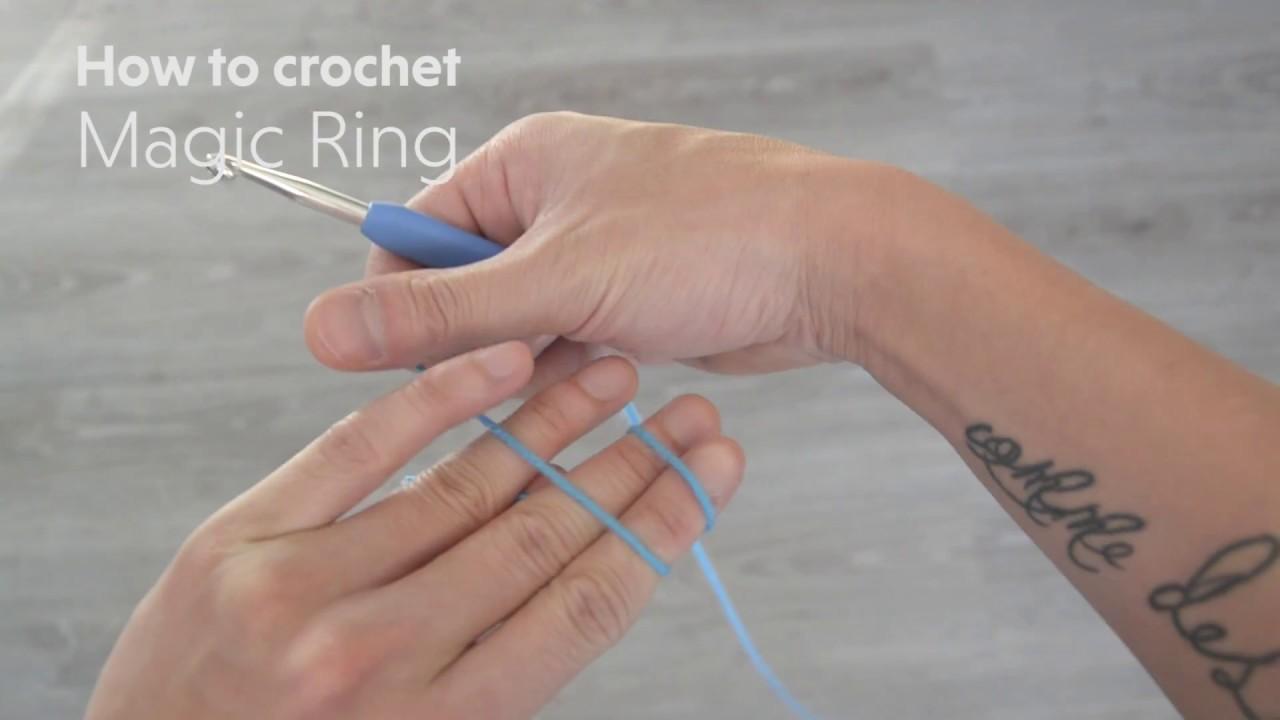 Starting with a magic ring in amigurumi | hookabee | 720x1280