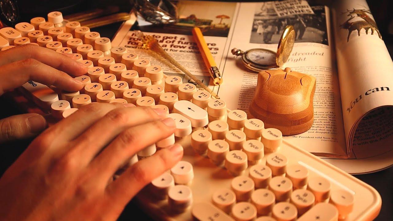 ASMR Keyboard Typing Sounds for Relaxing 마음이 평온해지고 잠도 잘 오는 키보드 소리