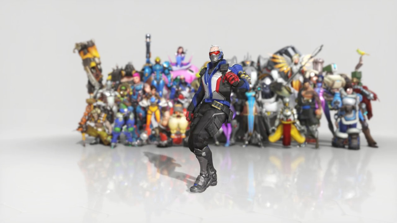 Overwatch Soldier: 76 Dance Emote Animated Wallpaper 1080p FULLHD