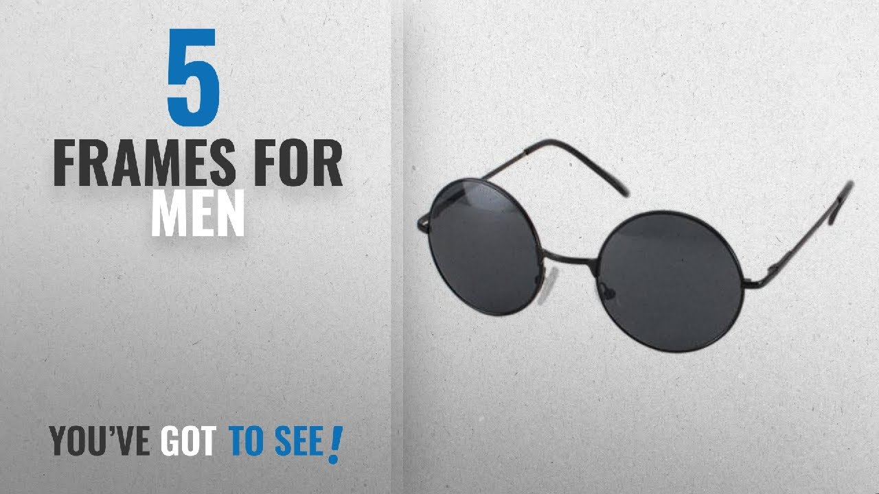 b4f0f0e4021 Top 10 Frames For Men  2018   Ultra ® Adults Retro Round Sunglasses John  Lennon Style Vintage Look
