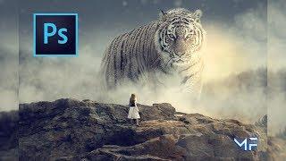 Big Tiger Wallpaper - SpeedArt Photoshop