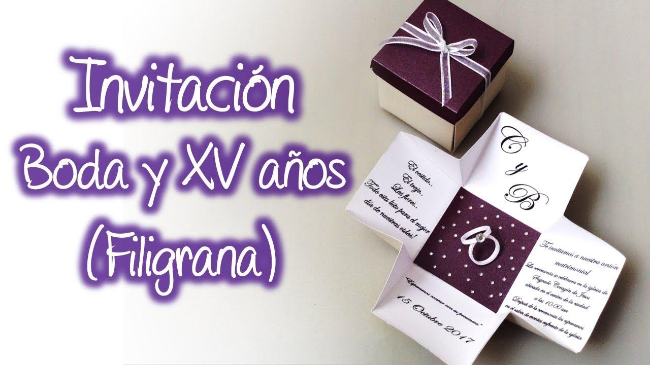 Invitacion Para Boda O Xv Años De Filigrana Quilling Wedding Invitation