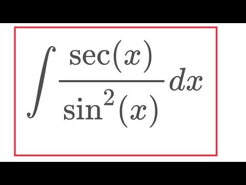 Integral of sec(x) sin^2(x) (feat. blackpenredpen)