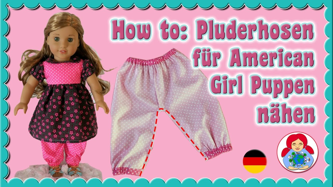 DIY   Pluderhosen für deine 46 cm große (American Girl doll) Puppe ...