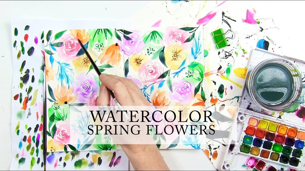Watercolor Spring Flowers Youtube